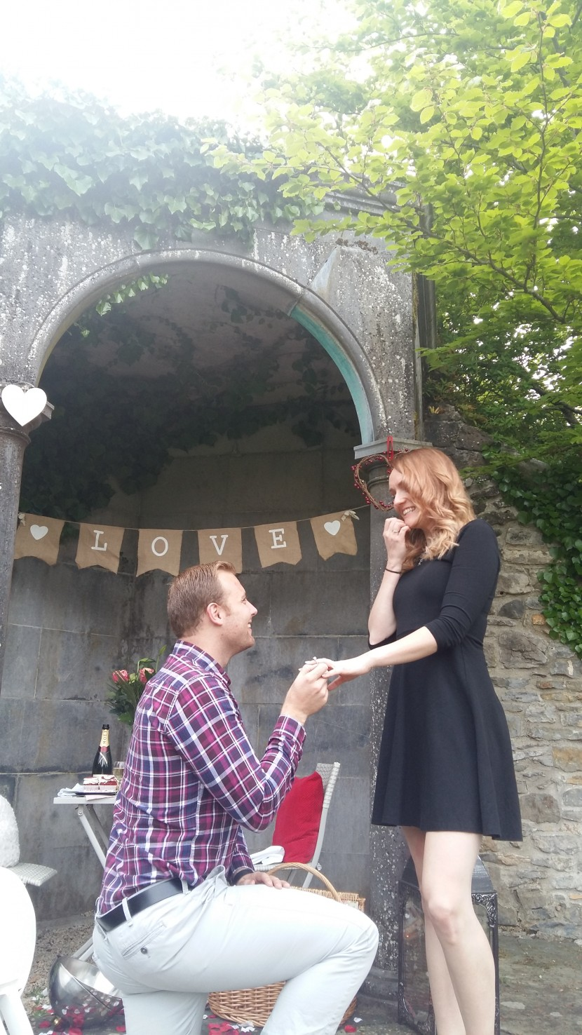 Magical picnic proposal at Mount Juliette Estate