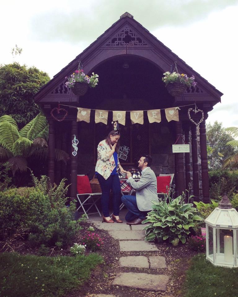 surprise picnic proposal in ireland.